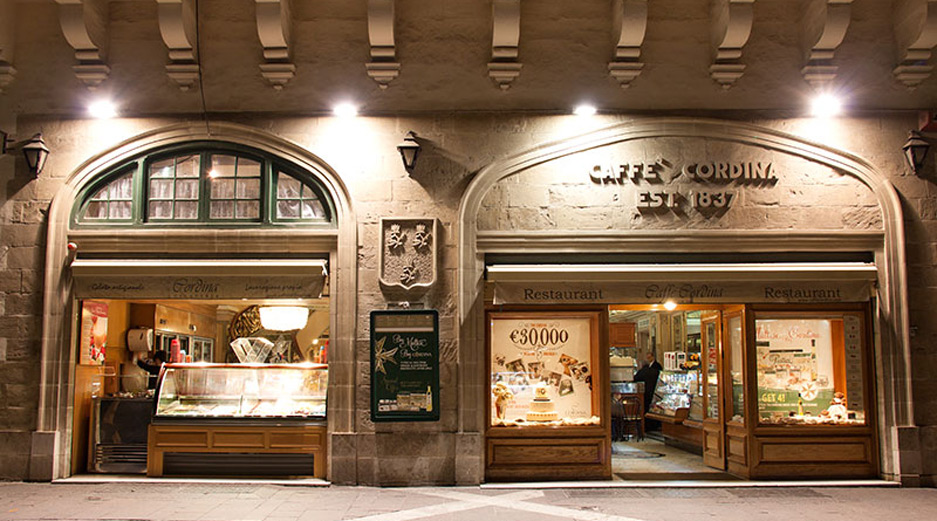 Valletta restaurants - Cafe Cordina Valletta